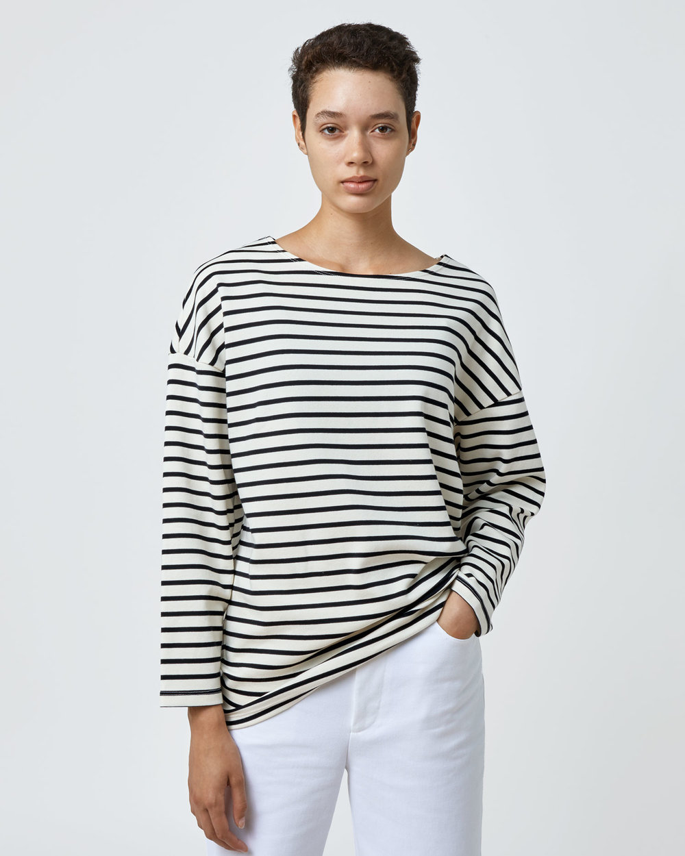 Shop One DNA Oversized Long Sleeve Striped T-shirt