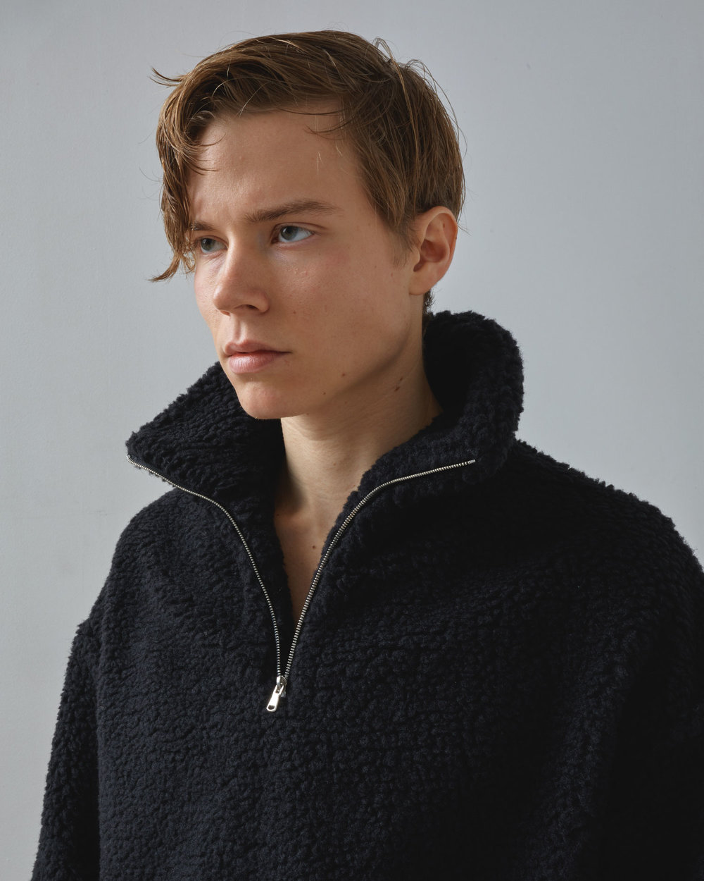 Shop Sherpa Fleece in Black