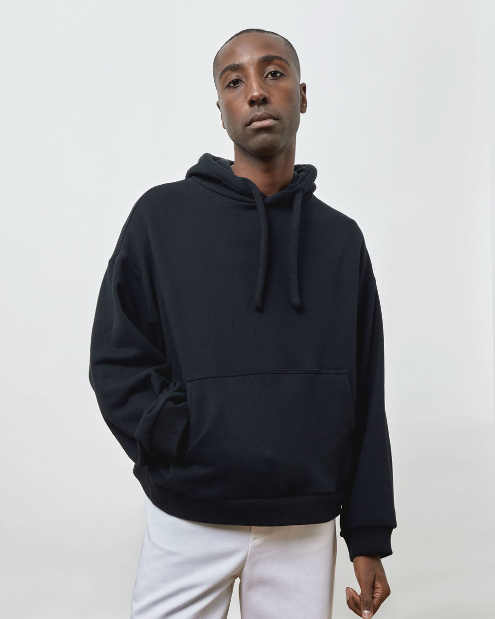 Shop Oversized Hoodie in Black by One DNA
