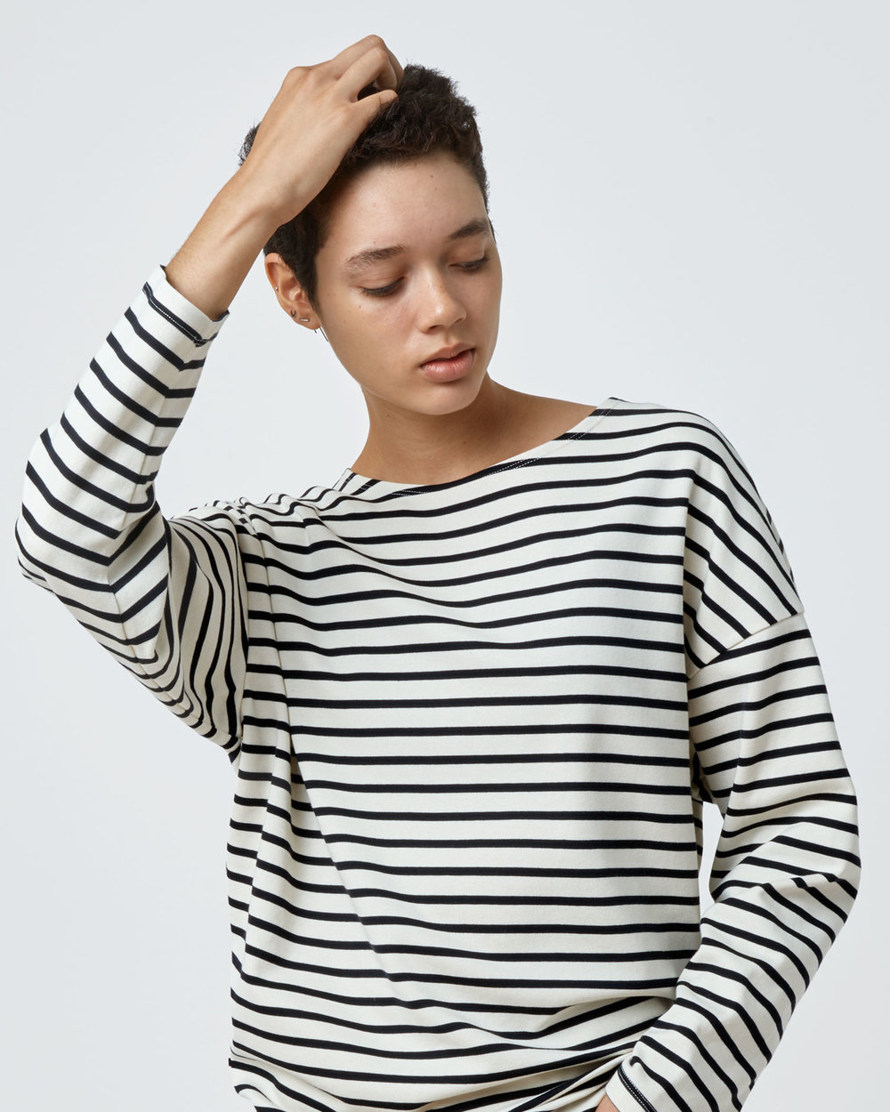 Shop Oversized T-Shirt in Black Stripe by One DNA