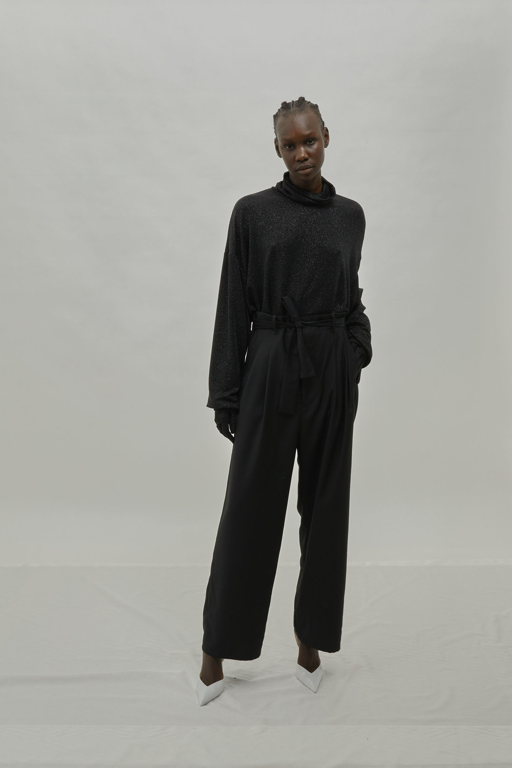 Black High Waisted Pant For One DNA FW19 Lookbook