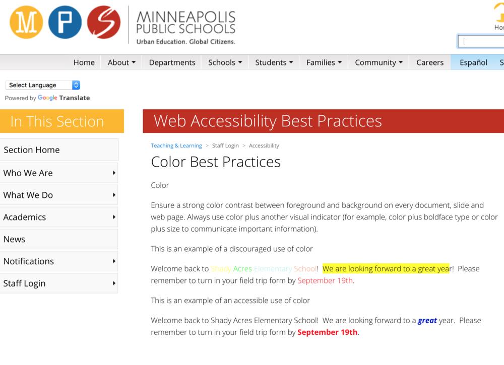 Color best practices image