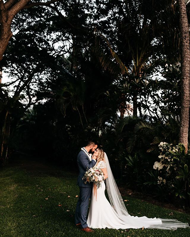 """never leaving this place, sorry. I truly don't think I could love these two beautiful humans any more than I do right now. in the middle of their perfect little dance floor as rain fell from the sky in maui last night, tyler yelled, """"what's better than one gallivan?! TWO gallivans!"""" truer words have never been screamed."""