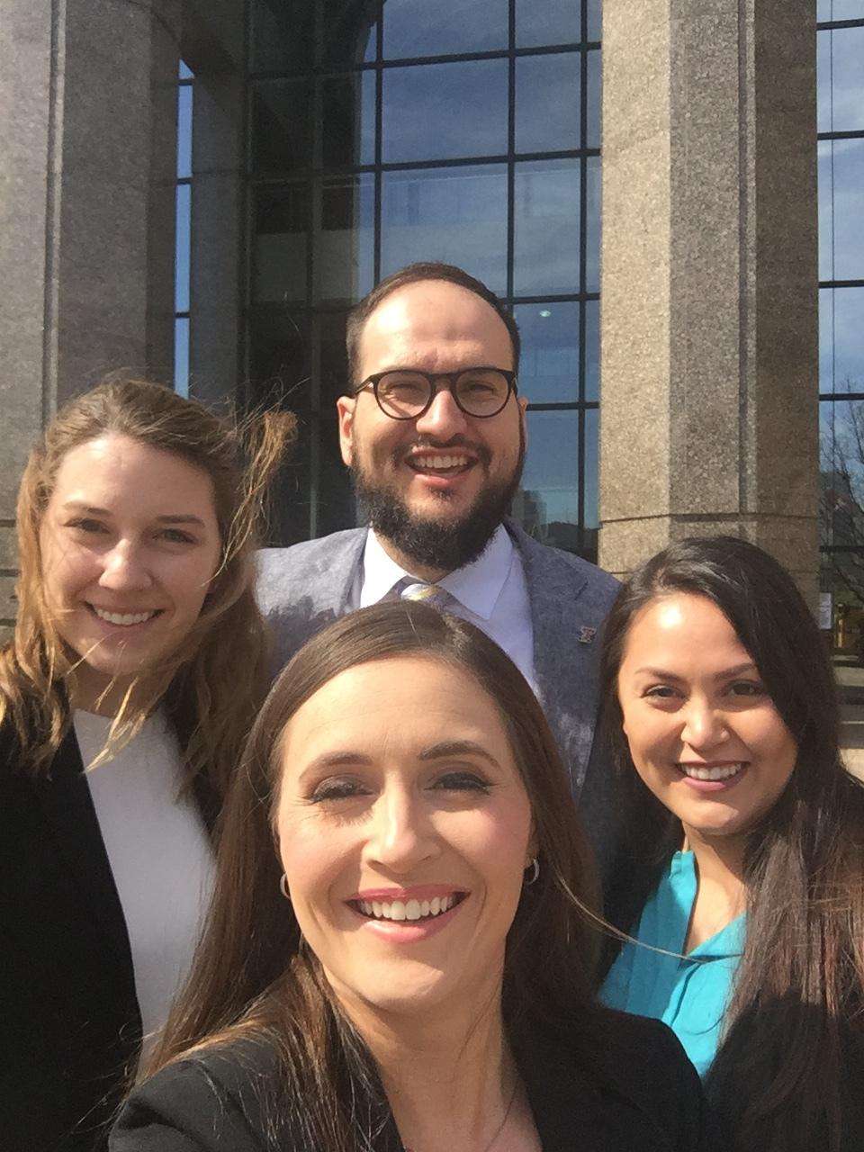 Ashleigh Hammer, Rudy Moisiuc, Mercedes Torres, Allison Clayton (front).JPG
