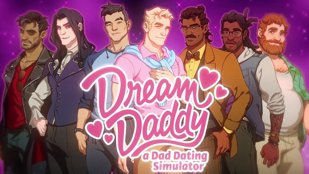Dream Daddy: A Dad Dating Simulator - Play as your own custom built dad as you romance and date other dads! 2017's surprise indie hit.