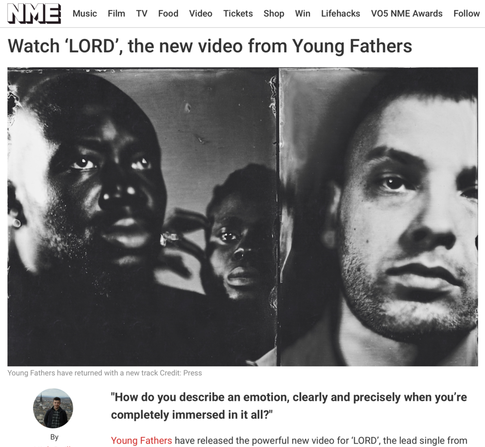NME - DIRECTOR OF LORD by YOUNG FATHERS
