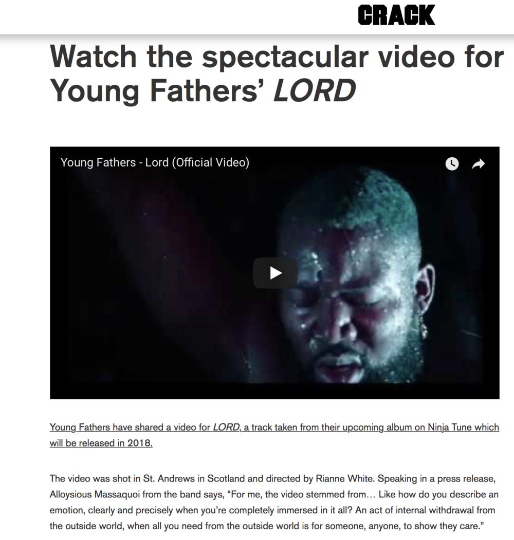 CRACK - DIRECTOR OF LORD by YOUNG FATHERS