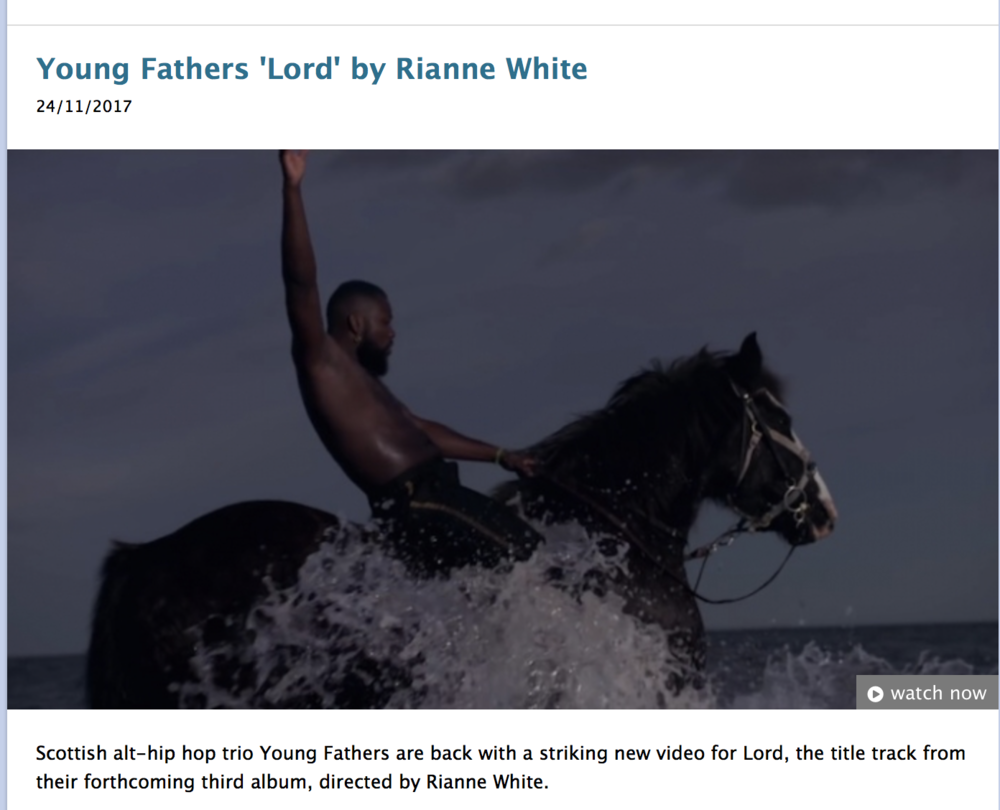 PROMO NEWS : NEW DIRECTOR - DIRECTOR OF LORD by YOUNG FATHERS
