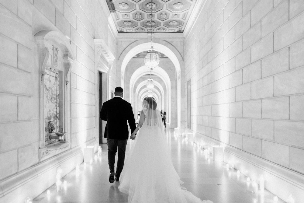 The Knot Dream Wedding / New York Public Library / Devon & Asha