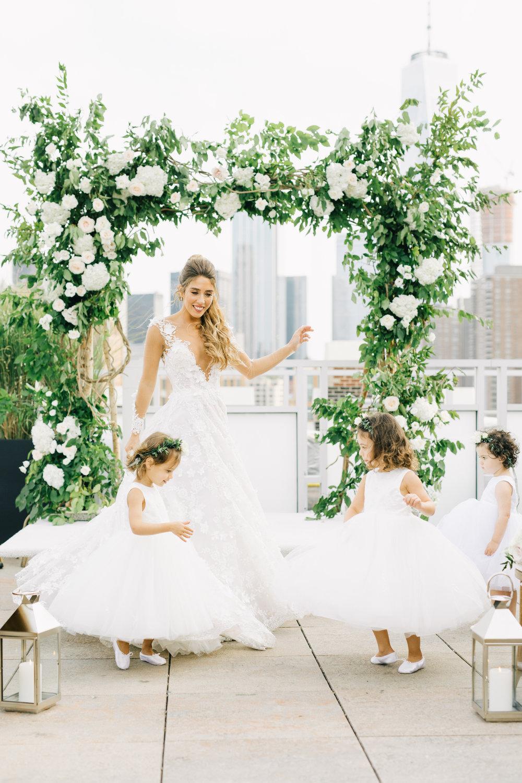 Tribeca rooftops wedding /  Kelly & Dan
