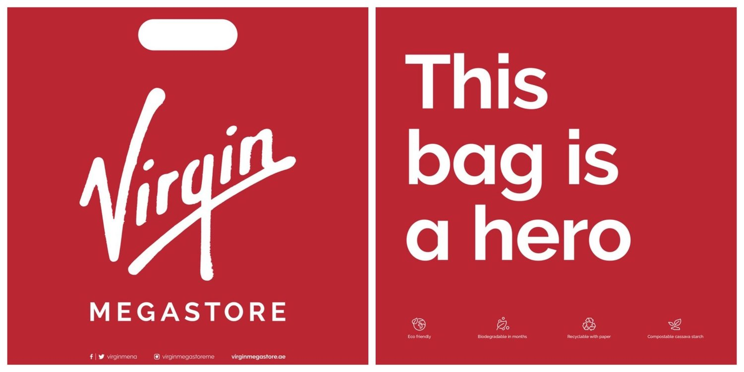"""Virgin Megastore switches to biodegradable bags in an effort to """"do"""