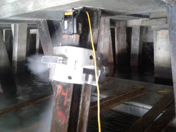H-Pile cleaning system at work in Mexico