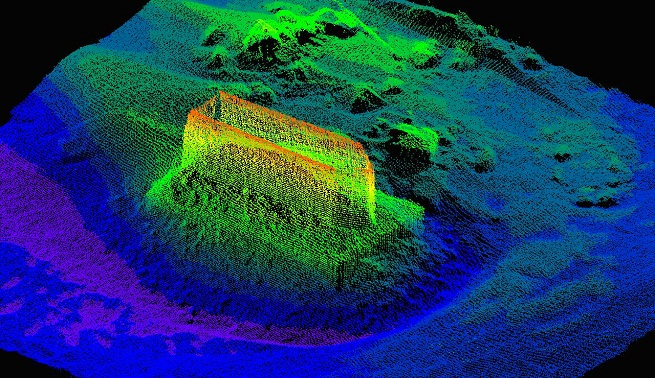 High-resolution point cloud to be used for scour assessment