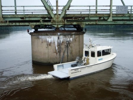 Orion driving tight lines around structures to be assessed with hydrographic data