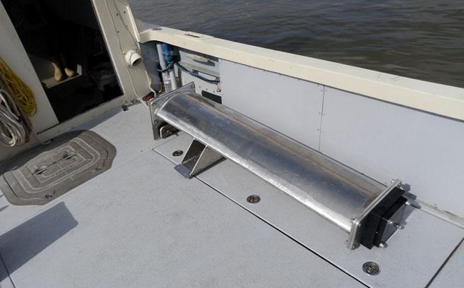 Dual frequency single-beam sub-bottom profiler, 3.5kHz & 200kHz.