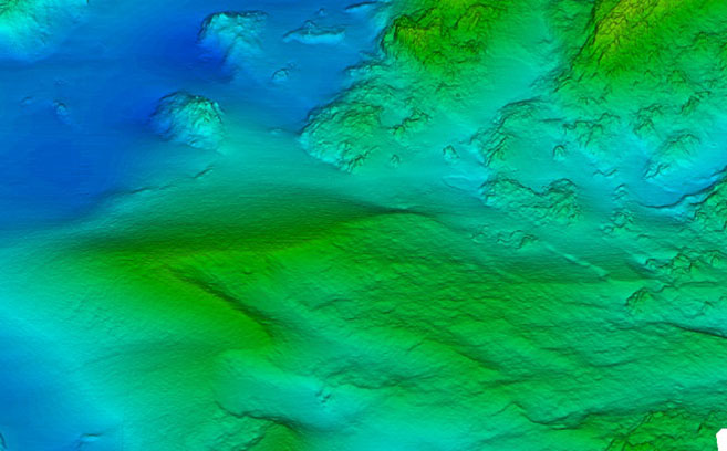 Sample of ultra high-resolution multibeam data collected by Substructure.