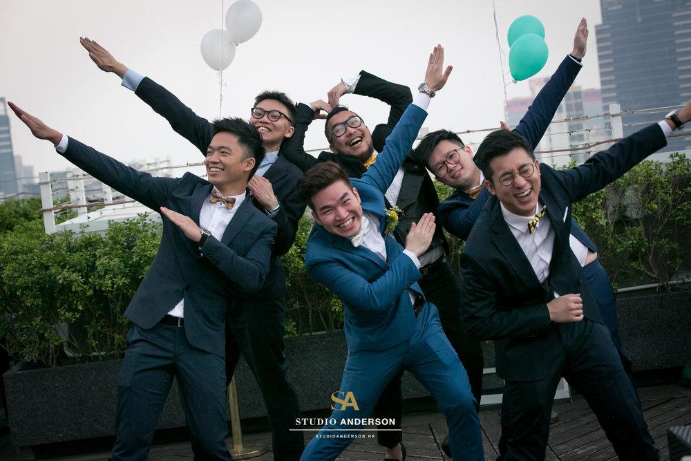 Funny groom and groomsmen!