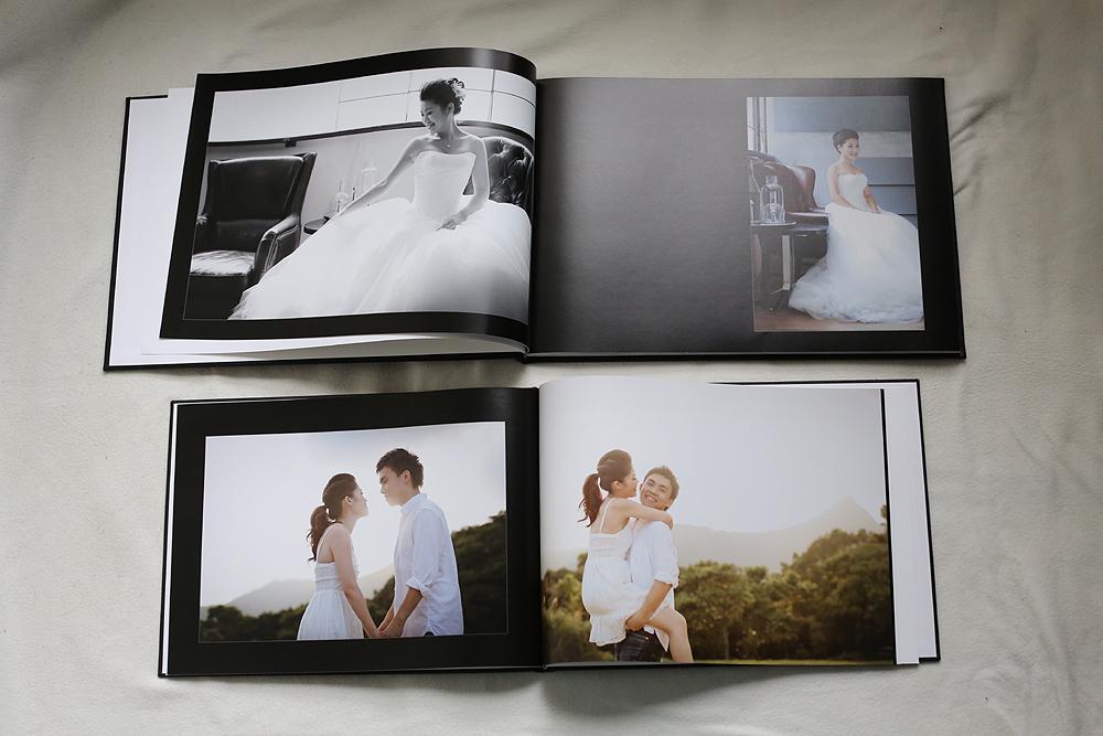 The Premium photo album (above) vs the Standard coffee book style album (below)