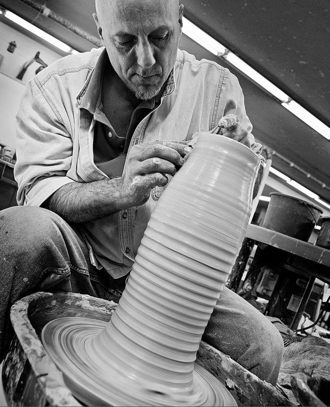 Phil Lyons - Studio Guest/InspirationPhil received his B.F.A. from the New York State College of Ceramics at Alfred University, and his M.F.A. from the U.W. Madison. He's been teaching art at his alma mater, Madison West High for the past 17 years. In addition to working in clay, he paints murals, renovates houses and performs with several Madison area bands.