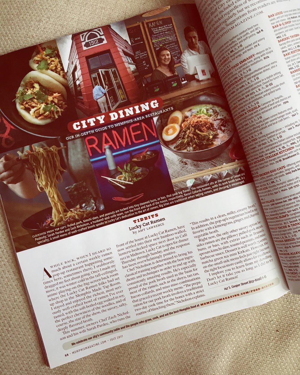Memphis Magazine Feature