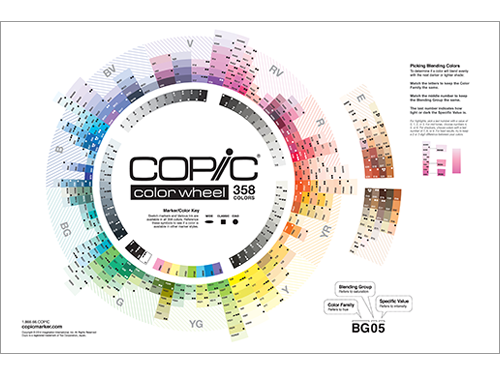 Copic Color Wheel -