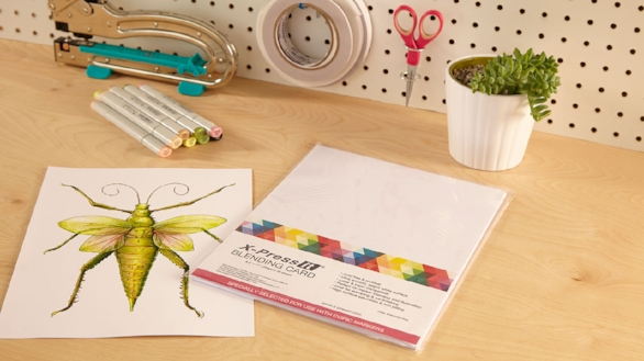 Blending Card - Perfect for marker art. A high-quality, bright white, silky smooth cardstock that holds vibrant color.