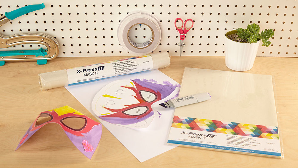 Mask It Sheets - Thin, easy to cut, and flexible, these masking sheets are perfect for a wide range of flat and dimensional projects from temporary airbrush to watercolor masks.