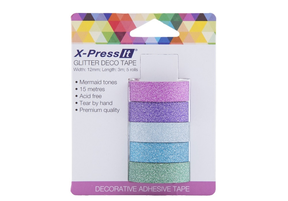 MERMAID GLITTER TAPE - Tape Size: 12mm