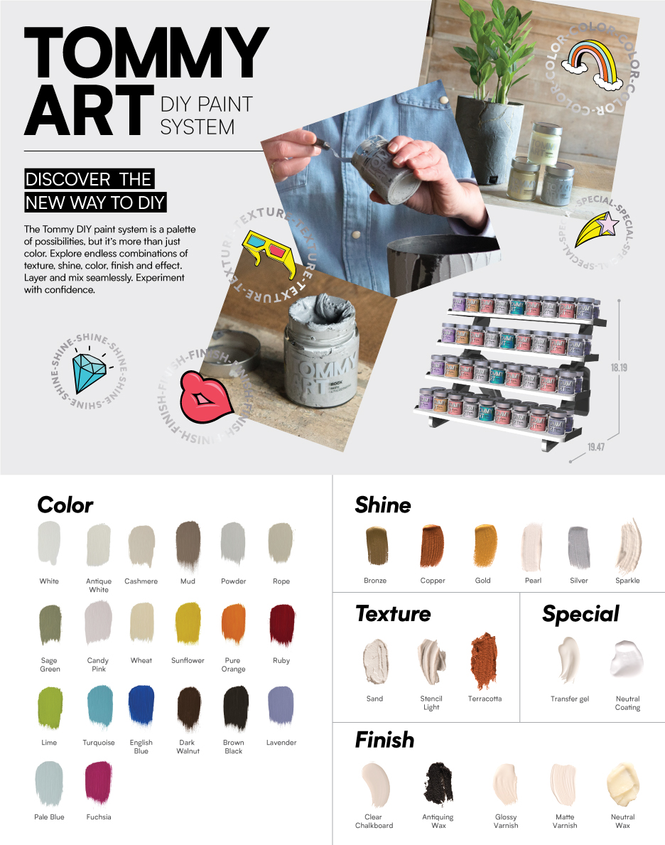 Tommy Art DIY Paint System Small Retail Display