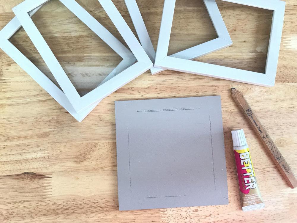 BETTER Glue DIY Frame Lantern Project
