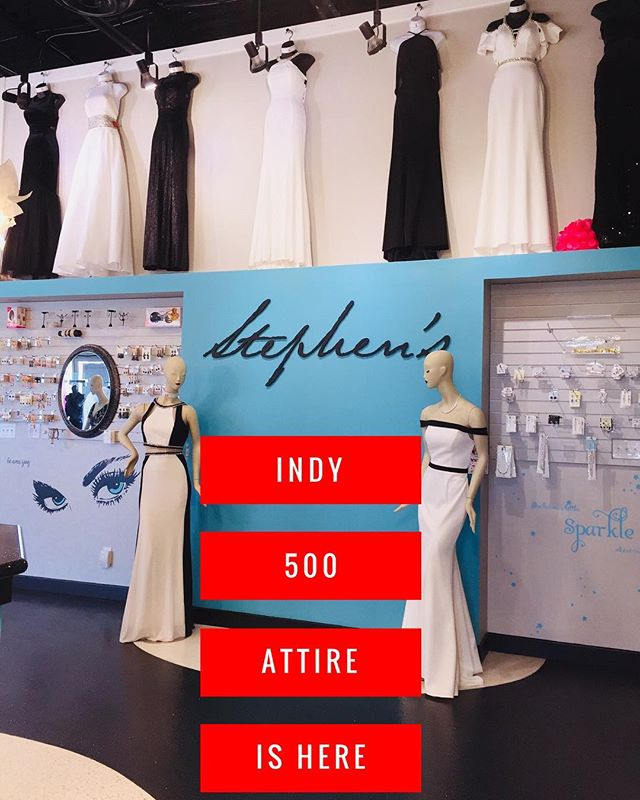 Every type of gown you would need for 500 festivities is here!! Zoom on in 🏎..... #shopStephens #stephenspromandbeyond #snakepitball #revindy #indy500