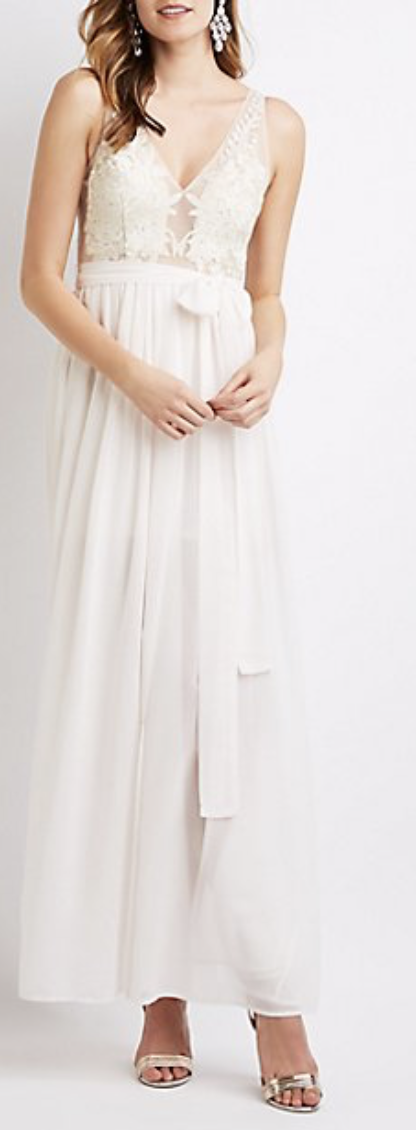 Mesh Embroidered Gown