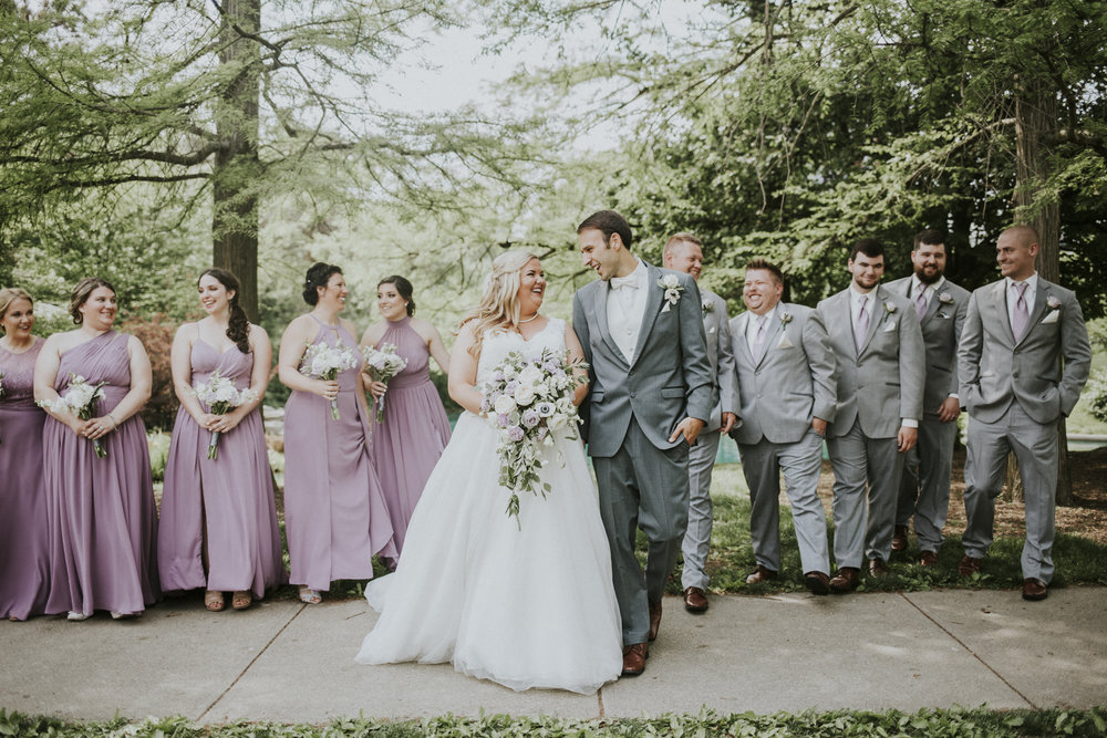Bridal Party shot - Kaylen and Eric's Romantic Countryside Wedding in Cincinnati, Ohio