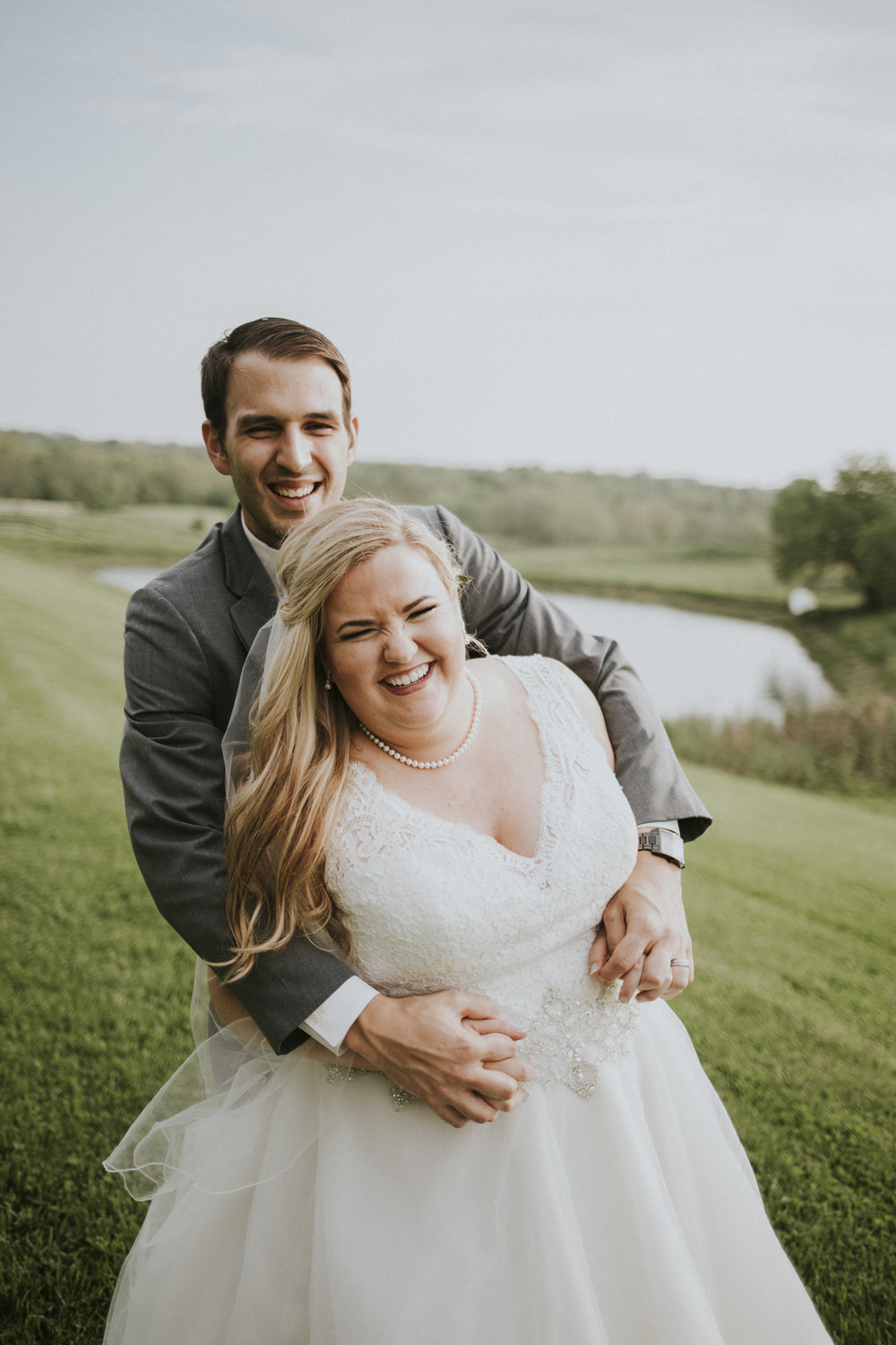 laughter :) Kaylen and Eric's Romantic Countryside Wedding in Cincinnati, Ohio - Reception Photography