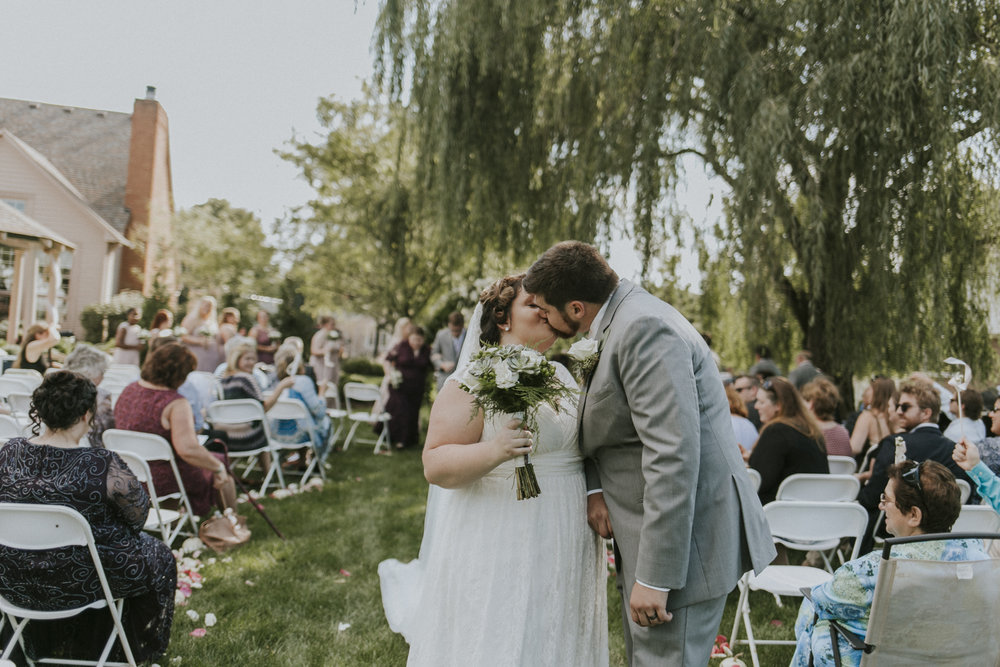 Miriam and Ave - A Romatnic Backyard Wedding in the fall. Cincinnati Ohio Backyard Weddings.
