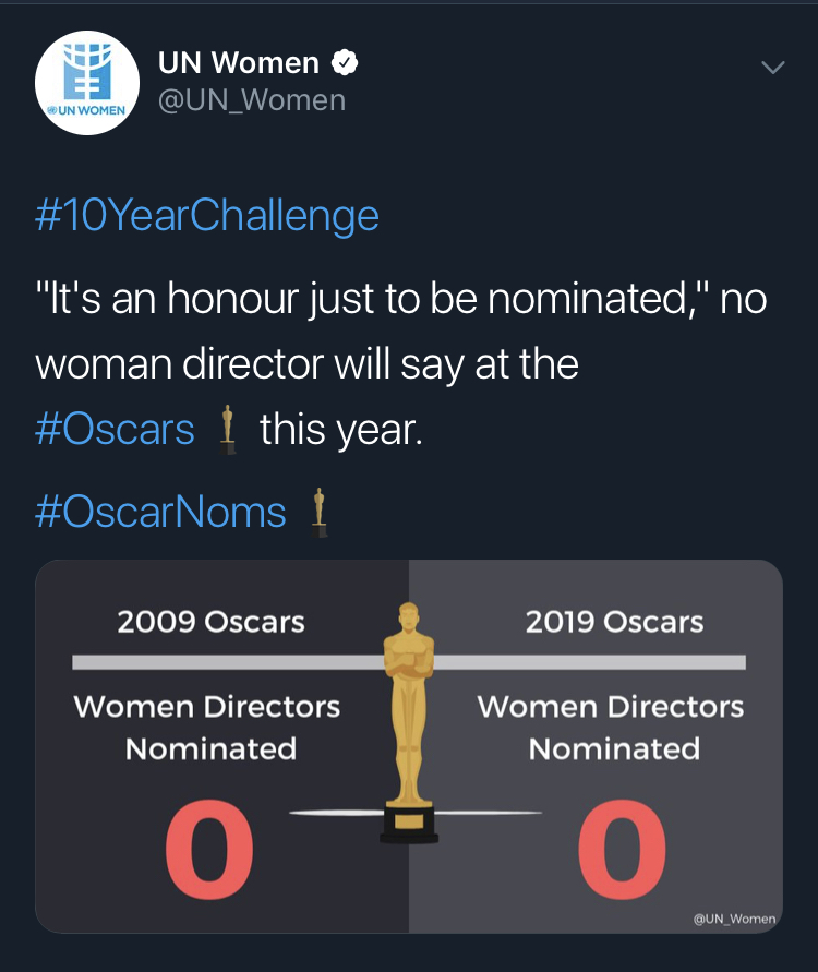 The @UN_Women #10YearChallenge post on Twitter.