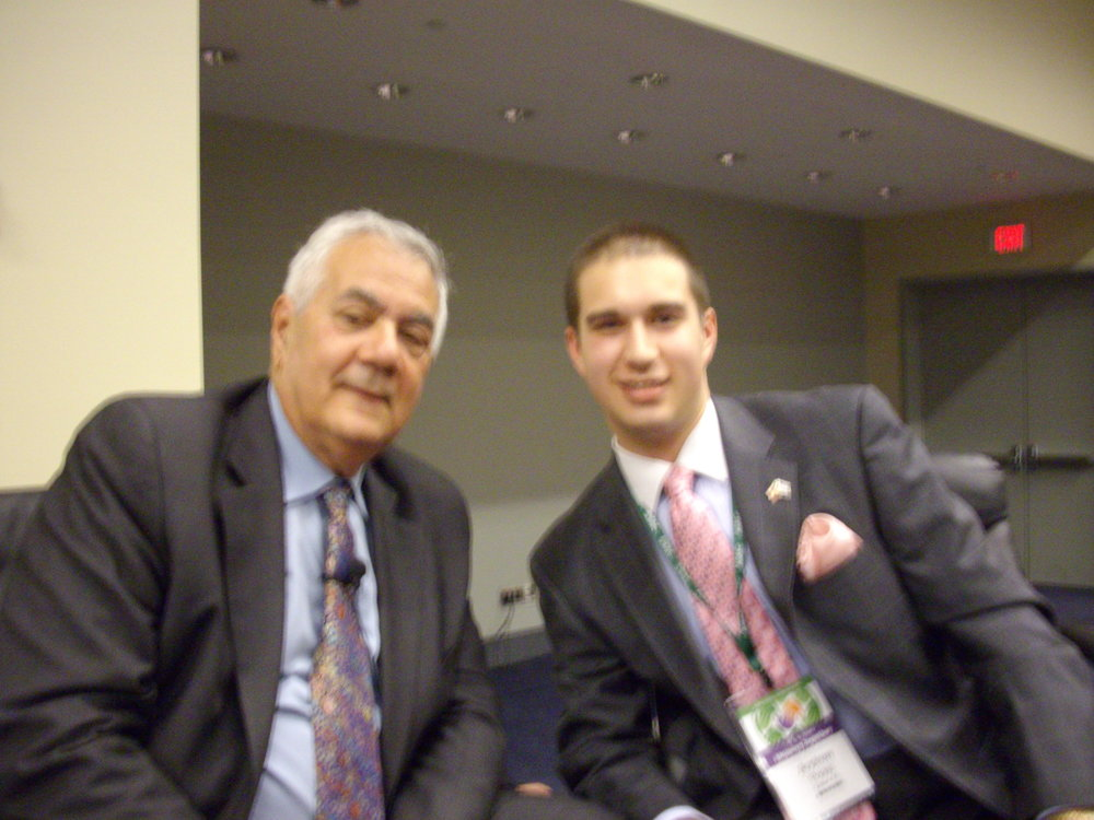 With former Congressman Barney Frank (D-MA), May 2011