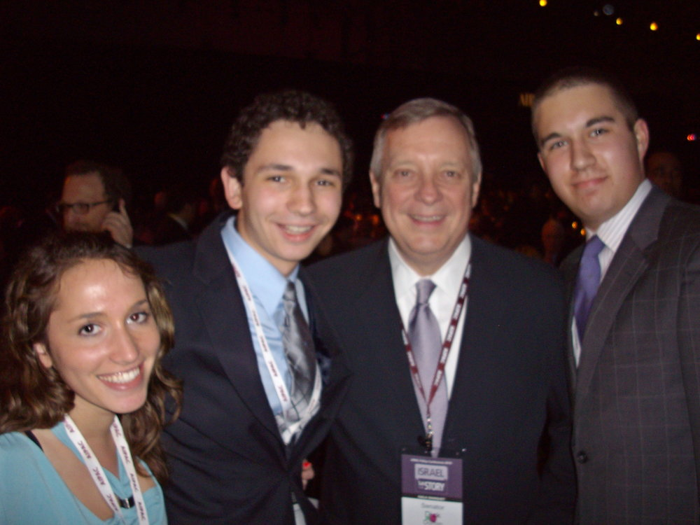 With Senator Dick Durbin (D-Il), May 2010