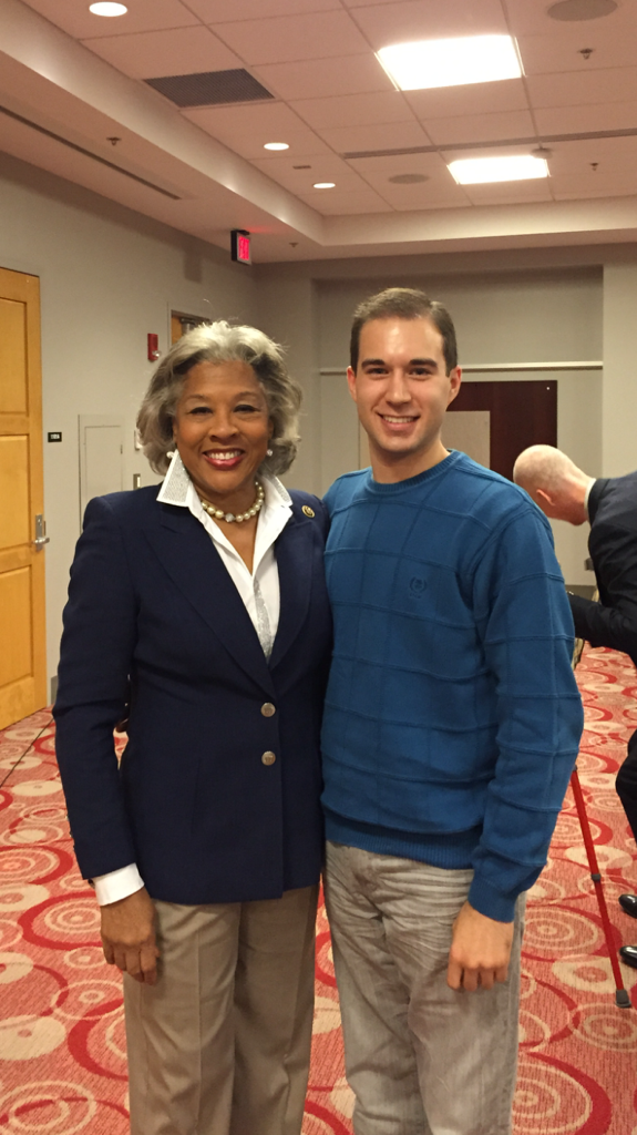 With Congresswoman Joyce Beatty (D-OH), November 2015