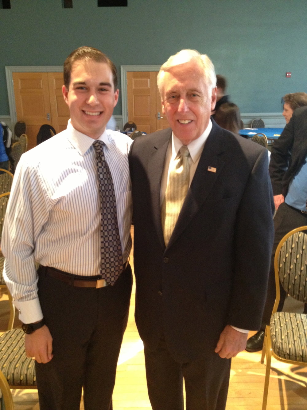 With former House Majority Leader Steny Hoyer (D-MD), February 2013