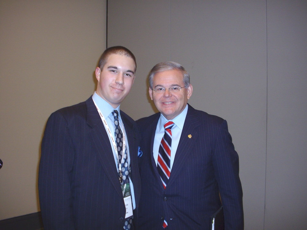 With Senator Bob Menendez (D-NJ), May 2010