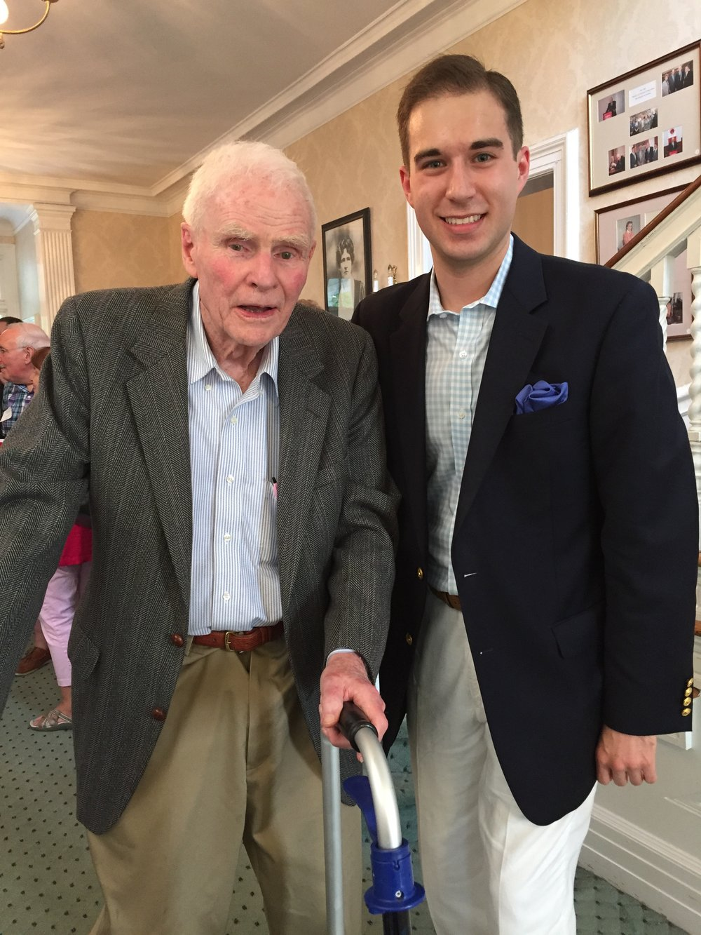 With former Governor Brendan Byrne (D-NJ), June 2015