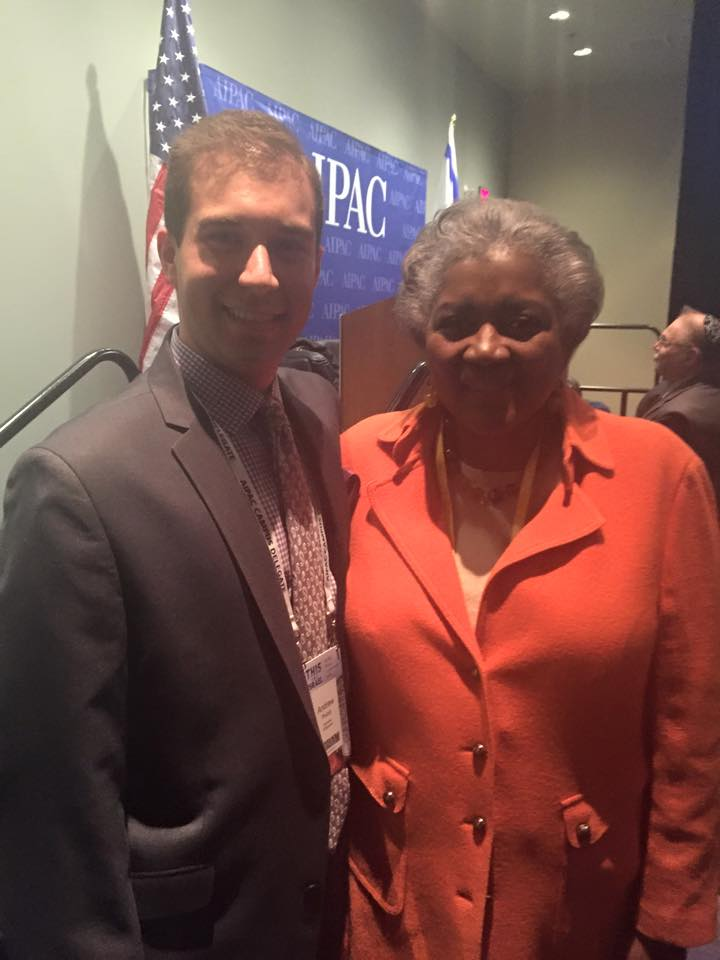 With former Democratic Party Chairwoman Donna Brazile, March 2015