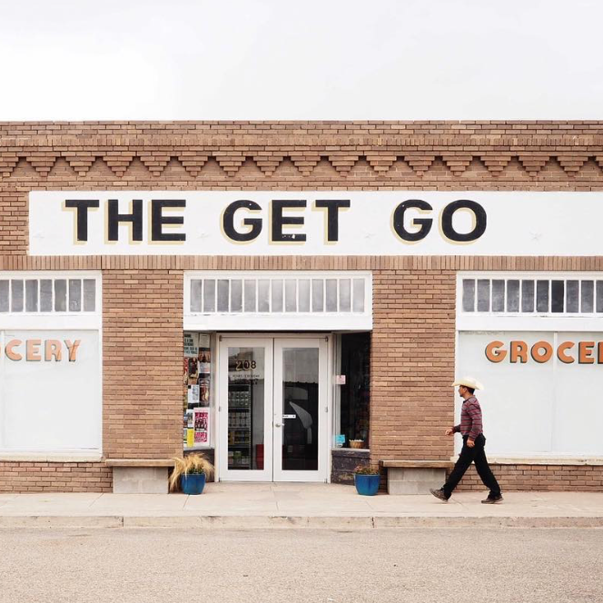THE GET GO  - So you've made it to Marfa, an oasis of culture in the literal and figurative desert that is West Texas. Make sure to stop at The Get Go, because Marfa has both limited options and weird hours. Otherwise, you might find yourself without Topo Chico and/or a bottle of wine.