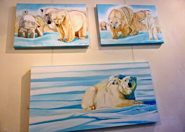 Polar Bears painted by John Davis