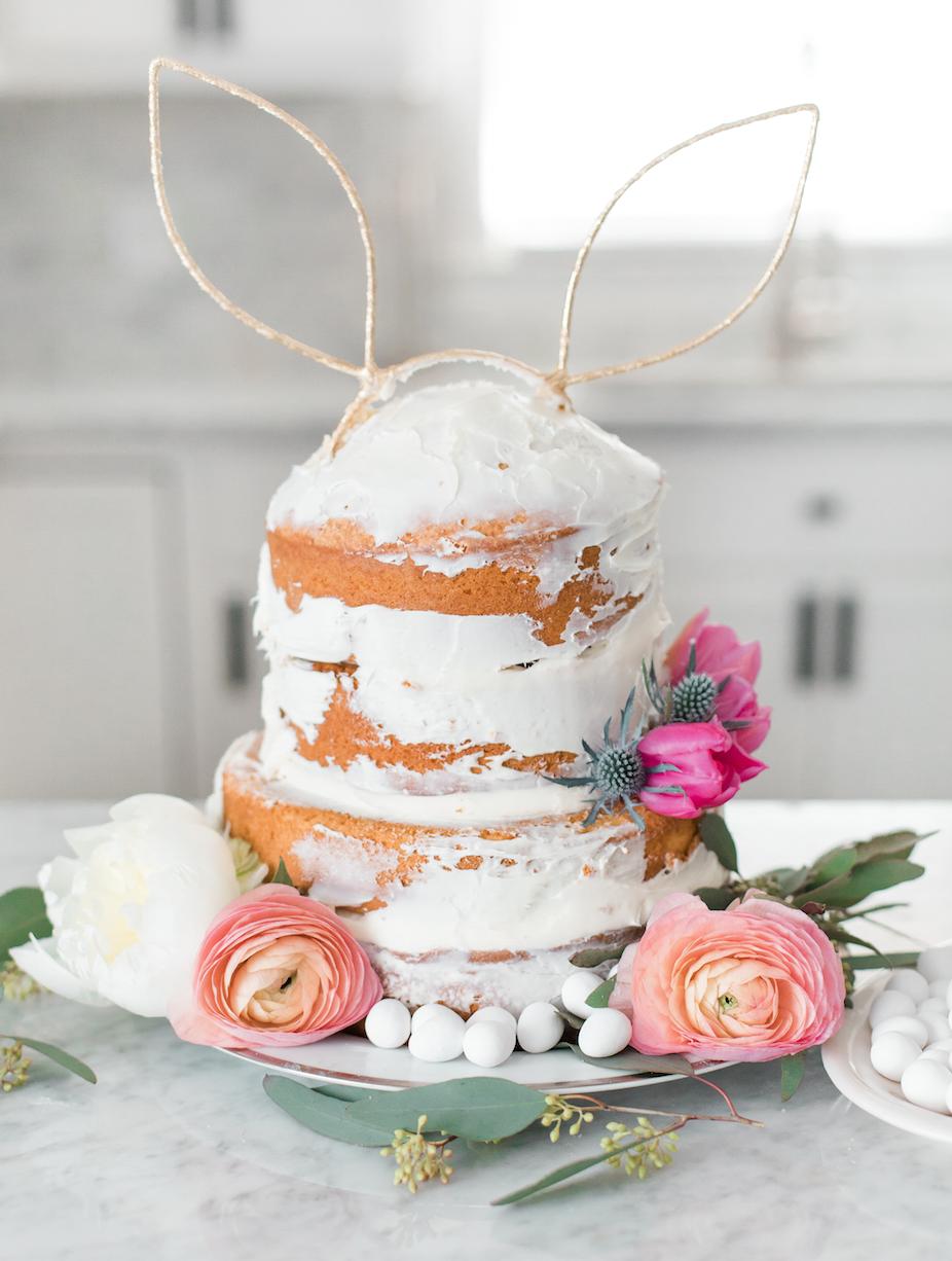 DIY Easter Naked Cake