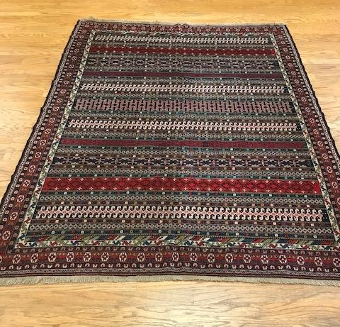 Turkish Sumak - Price $795 - Size 6'8 x 8'11