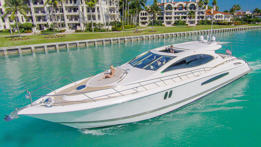 75 ft Lazzara | From $3100 | 13 guest max