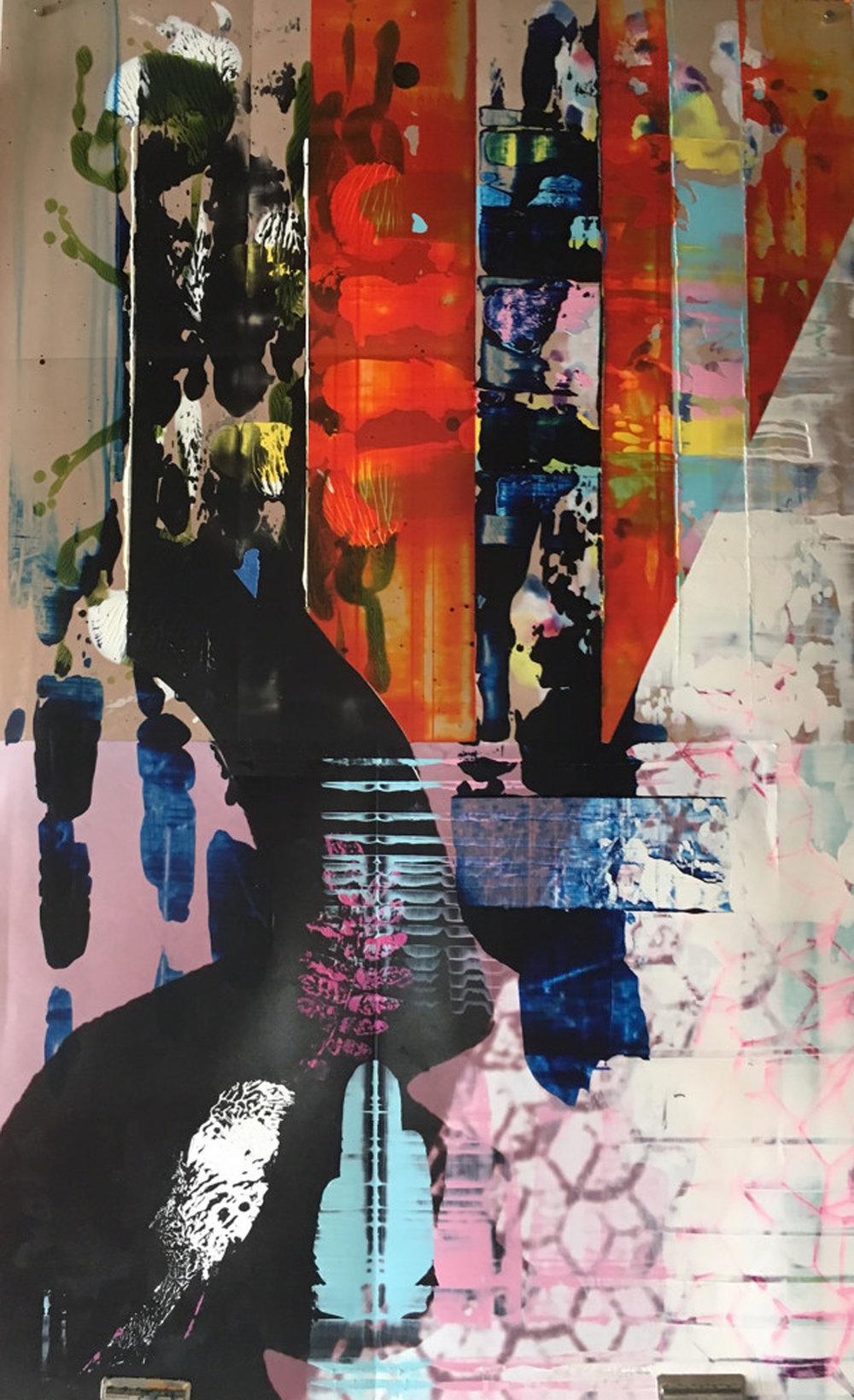 Fowl's Fodder, 22.25 x 35.5 inches / 57 x 90 cm, galkyd oil on chromogranic print, 2017