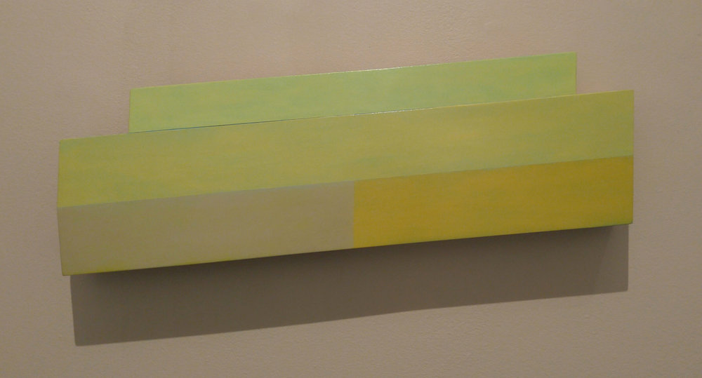 Pilot #1, 7 x 22.5 x 2.75 inches / 18 x 57 x 7 cm, acrylic on poplar, plywood, 2016